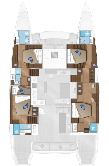 Lagoon 560 - Lower deck 5 cab.