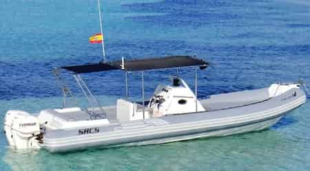 Alquiler de la lancha semirrígida SACS S33 en Ibiza y Formentera