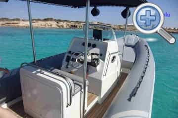 Cockpit view of Sacs S33 RIB fastboat charter in Ibiza and Formentera