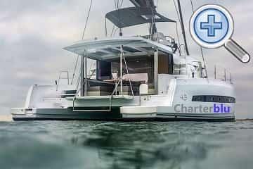 General view of Catana Bali 4.3 catamaran rental in Ibiza and Formentera