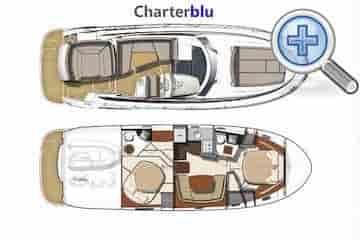 Ansicht Stadtplan Bootsvermietung Yacht Jeanneau Prestige 440S auf Gewässern von Ibiza und Formentera